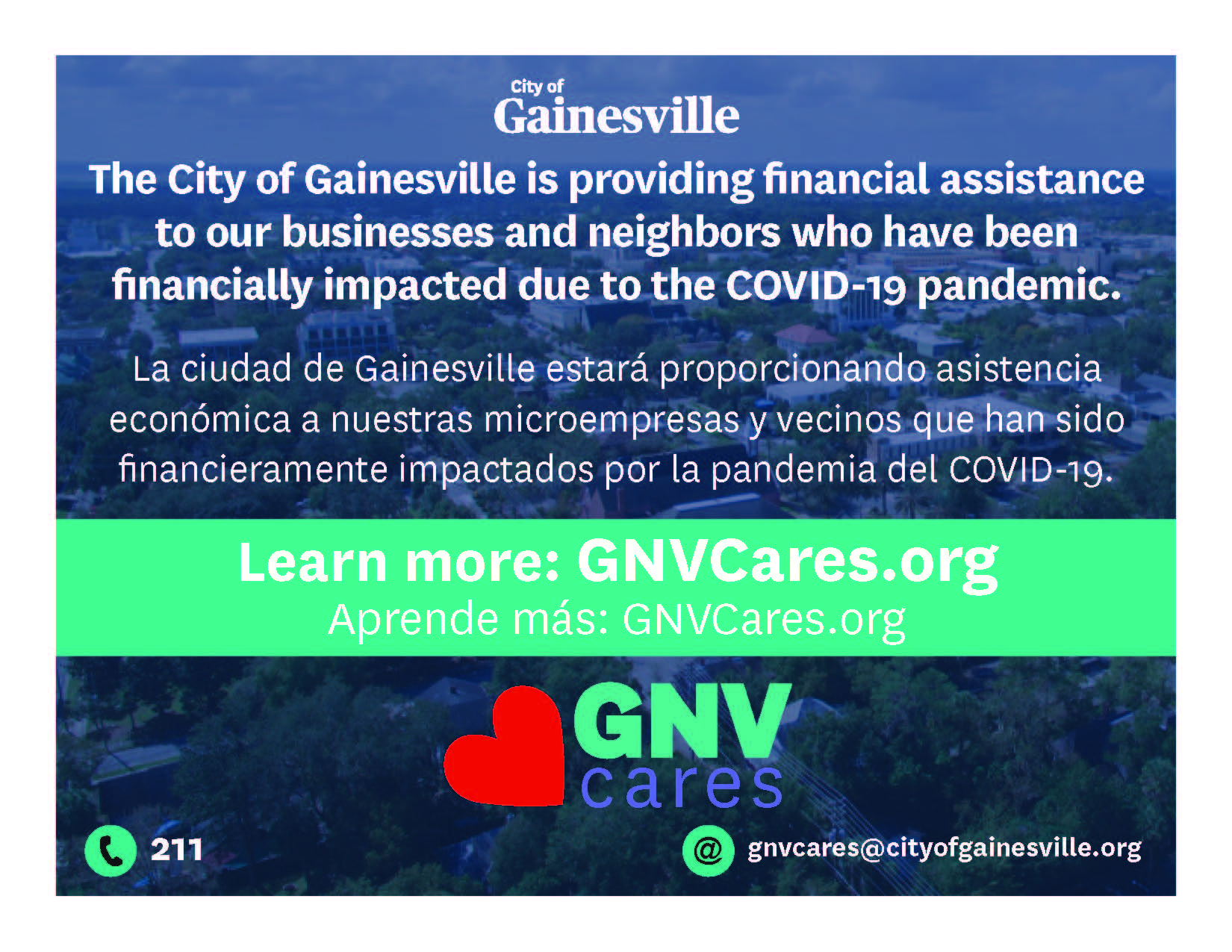 GNVCares Program to Provide COVID-19 Related Relief to Neighbors and Small Businesses